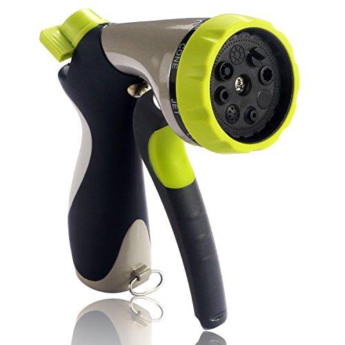 Garden Hose Nozzle Bestope Hand Spray Nozzle - Heavy Duty 8 Adjustable Pattern Pistol Grip Front Trigger Water