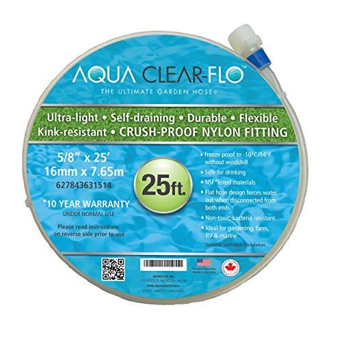 Aqua Clear-Flo Lightweight Expanding Garden Hose 25 Feet