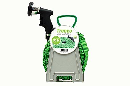 Best Expandable Garden Water Hose 50 Ft Lightweightamp Heavy Duty 100 Leak Free By Treeco With Premium Metal Nozzle