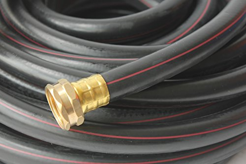 Kapok Garden Hoses With Brass Fitting Connectors- Varies Sizes And Colors 50-ft Blackfuchsia