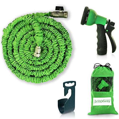 Expandable Garden Hose - 50 Ft Retractable Lightweightamp Flexible - 8 Pattern Function Watering&nbspnozzle Gardening