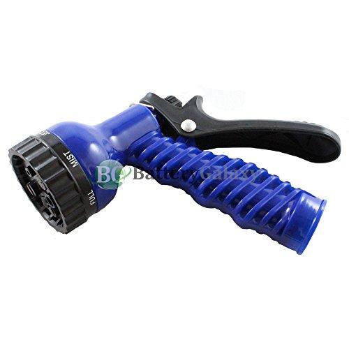 Garden Lawn Hose Nozzle Sprinkler Head Water Sprayer Blue - 7 SPRAY PATTERNS