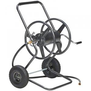 Inside Out Heavy Duty Steel construction Durable 250 ft Hose Capacity 2 Wheel Hose Reel Cart- Includes leader hose