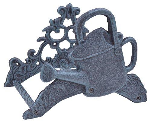 Garden Water Hose Holder Watering Can Verdigris Cast Iron 975 Wide