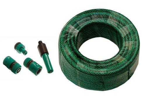 Green Garden Hose Pipe Reinforced Longitud 60M 12mm Diámetro Con Herrajes