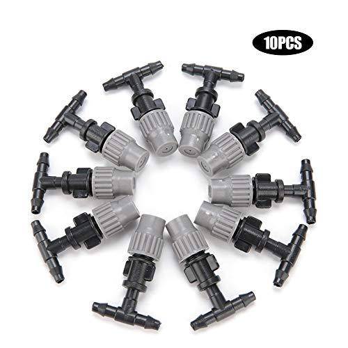 10Pcs Micro Drip Irrigation Kits Plant Self Watering Garden Hose Sprinklers Connectors Garden Sprinklers