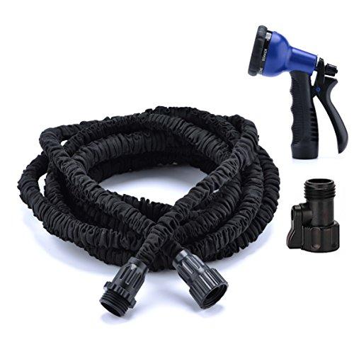 50FT Garden Hose Expandable Water Hose Flexible 34 inch 50FT Black