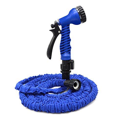 Freehawk50 Feet Garden Hose Water Hose Hose Reel Best Hoses Expandable Garden Hose with Free 7-way Spray Nozzle Flexible HoseBlue