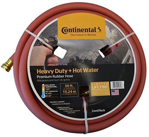 Continental Contitech Red Hot Water Heavy Duty Garden Hose 58&quot Id X 50 Feet Length
