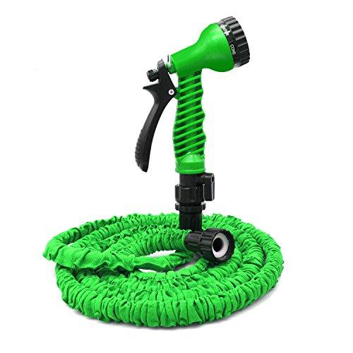 Freehawk25 Feet Garden Hose Water Hose Hose Reel Best Hoses Expandable Garden Hose with Free 7-way Spray Nozzle Flexible HoseGreen