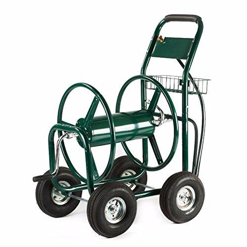 Generic YZ_718888YZ_7 Hose Reel Hose Re Cart 300 FT Outdoor Outdoo Duty Yard w Basket en He Green Water uty Ya Garden Heavy YZ_US7_160510_585