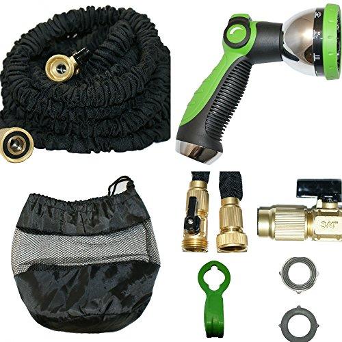 Heavy Duty Garden Hose  Expandable Hose Set 50 Ft 10-pattern Garden Hose Nozzle And Expandable Lightweight Ultra