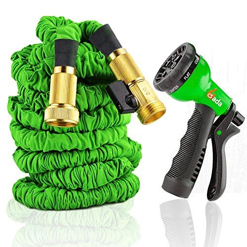 150 Heavy Duty Expandable Garden Water Hose By Gada  Free 8-way Sprayer150ft