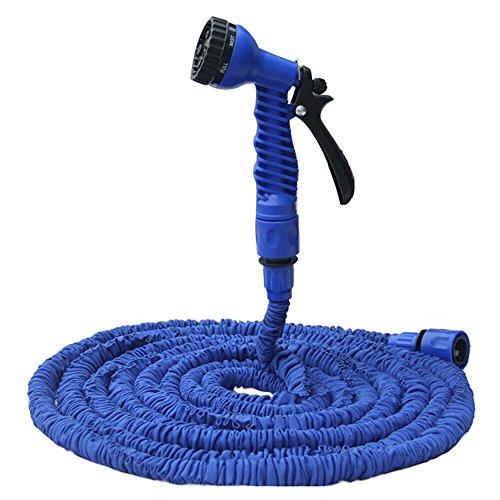 Flexible Expandable Garden Hose 25feet yummy Sam Double Layer Latex Retractable Collapsible Garden Water Hose