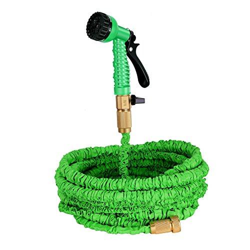 Ghb Garden Hose 75 Feet Strongest Water Hose Expandable Hose 7-way Spray Nozzle Rust-free Flexible Hose
