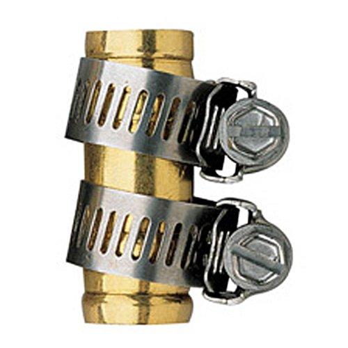 5 Pack - Orbit 58 Brass Shank Water Hose Repair Mender w Clamp