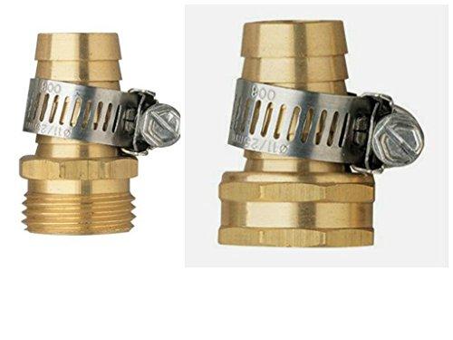 Orbit 58 Garden Water Hose Female and Male Repair Mender Clamps Aluminum