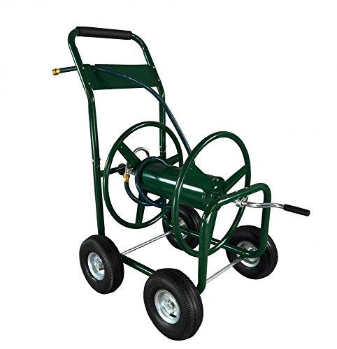 Newwater Hose Reel Cart 300 Ft Outdoor Garden Heavy Duty Yard Water Planting H0