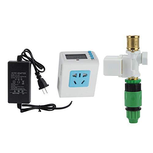 Mumusuki Water Irrigation System Controller Automatic Timer Watering Solenoid ValveUS 100-240V