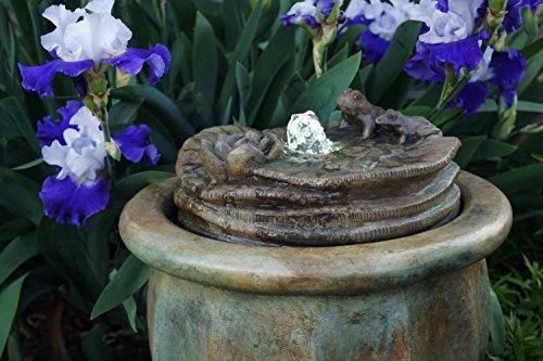 Henri Studio 2 Piece Frogs Patio Bubbler Fountain Relic Sargasso