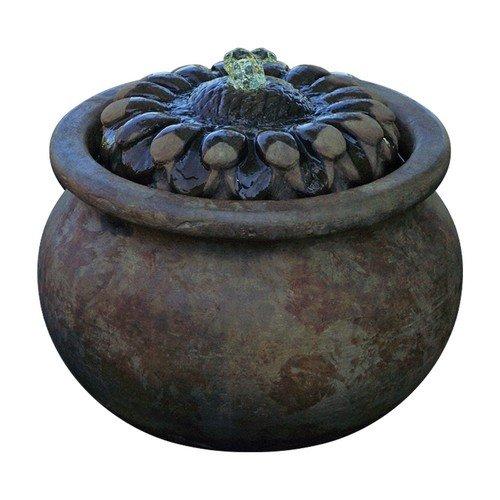 Henri Studio 2 Piece Sunflower Patio Bubbler Fountain Relic Nebbia