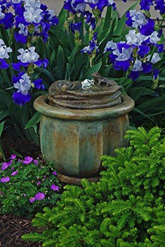 Henri Studio Frogs Patio Bubbler Fountain - 5325F2A - Shown in Relic Nebbia RN
