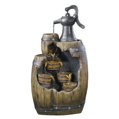 Alpine Old Fashion Pump Pouring Barrel Fountain by Alpine