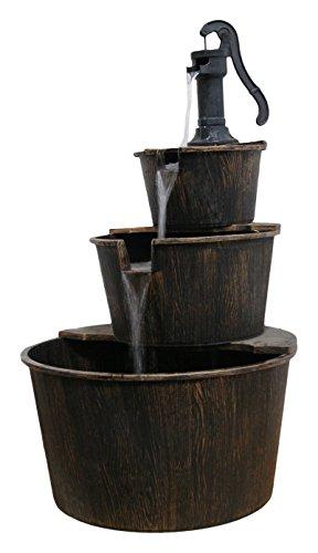 Alpine Tec234br 3-tier Pump And Barrels Fountain 41&quot