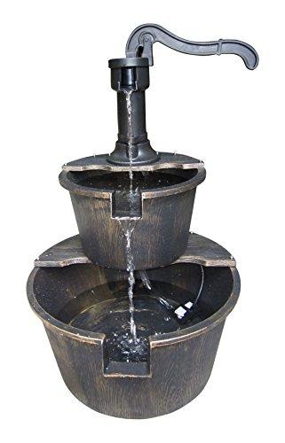 Alpine Tiz194bz 2-tier Pump And Barrel Fountain