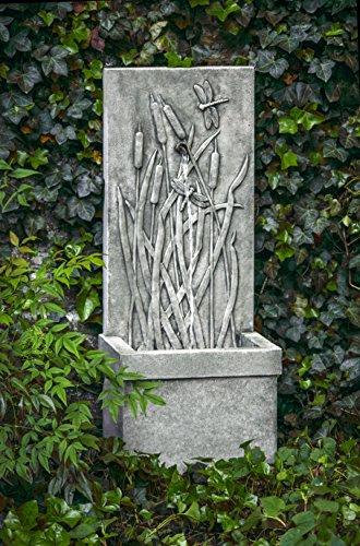 Campania International FT-196-PV Dragonfly Wall Fountain Pietra Vecchia Finish