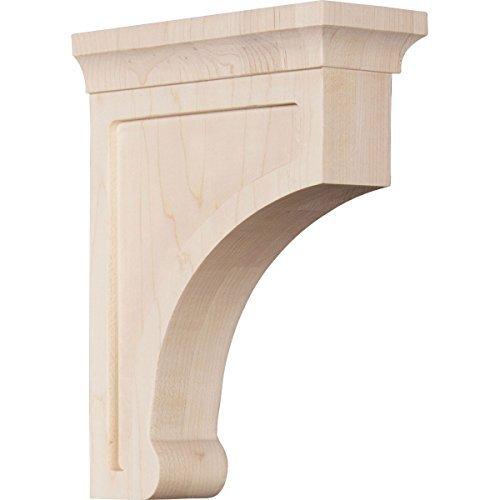 Ekena Millwork BKTW02X06X08GORW 2 12W x 6D x 8H Medium Gomez Wood Bracket Rubber Wood Size 2 12W x 6D x 8H Color Rubberwood Model BKTW02X06X08GORW Outdoor Hardware Store
