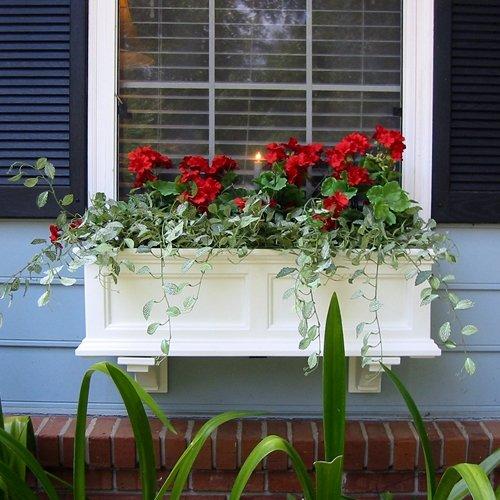 Mayne Fairfield 36 Window Box Combo with Corbel Brackets - White 3