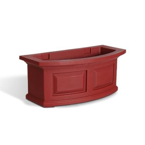 Mayne Nantucket 24 Window Box Combo with Corbel Brackets - Red 2