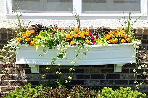 Mayne Nantucket 60 Window Box Combo with Corbel Brackets - White 5