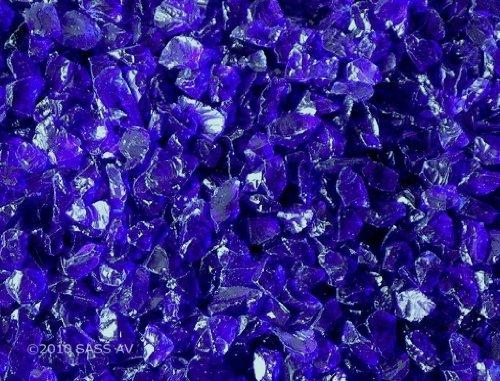 Fire Pit Glass Rocks Cobalt Blue~38-12&quot 4 Lbs