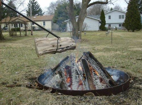 &ldquofire Pit&rdquo Style Klinker Dinker Log Grabber Tool