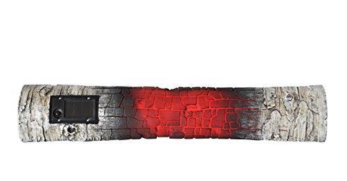 Moonrays 91477 Solar Powered Red Led Birch Firepit Log 3pk