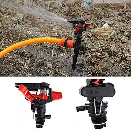 KAMOLTECH 12 Inch Plastic Garden Lawn Plant Rotating Watering Sprinkler Irrigation Tools Pressure Sprinkler
