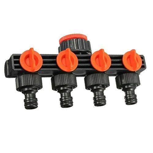 sportuli Garden Irrigation System 4 Way Valve Water Controller Hose Pipe Splitter Diverter Drip Yard