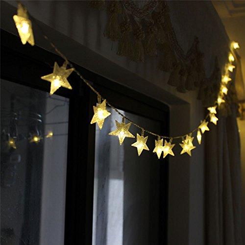 Tinnztes New Warm White 4m13ft 40 Led Star Light Fairy String Light For Christmas Xmax Weddings Family Festival
