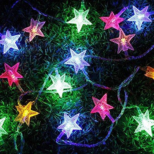 XBLACK New Warm White 10m33ft 100 LED Star Light Fairy String Light for Christmas XMAX Weddings Family Festival School PartyWarm White color