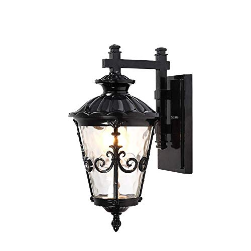 XYJGWBD Outdoor Wall Lantern Light 1 Light Exterior Wall Sconce Lantern in Black Finish with Bubble Glass Lamp Shade Modern Outdoor Lighting Fixtures Color  Black