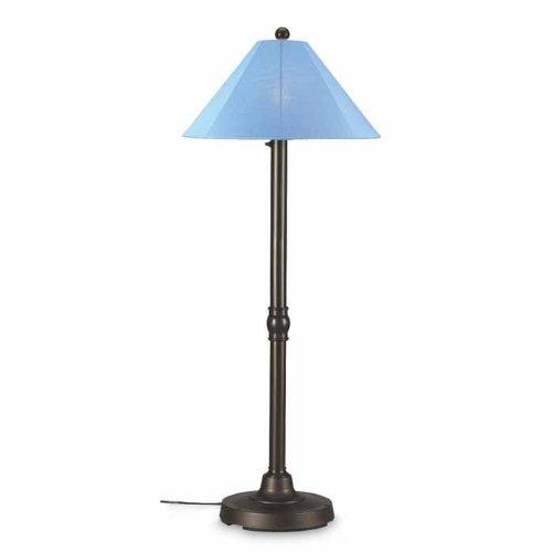 Patio Living Concepts San Juan Bronze Outdoor Floor Lamp with Sky Blue Shade Medium