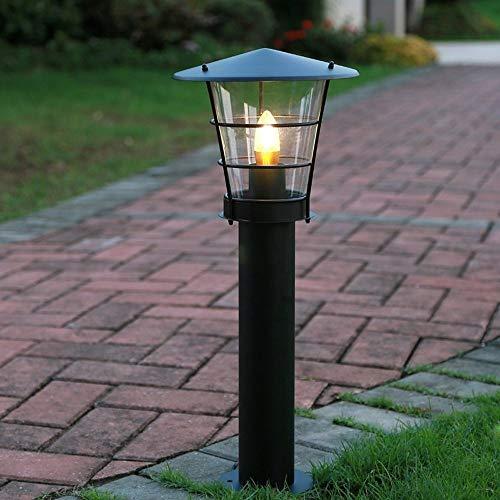 ZSAIMD Column Lamp Street Post Light Outdoor Floor Lamp Retro Stainless Steel Metal Waterproof Landscape Lawn Grass Street Light Garden Villa Acrylic E27 Fixtures Lighting Decoration
