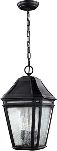 Feiss OL11311BK Londontowne Marine Grade Outdoor Lighting Pendant Lantern Black 3-Light 10W x 17H 180watts