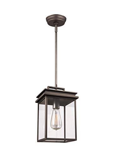 Feiss OL13609ANBZ Glenview Outdoor Lighting Pendant Lantern Bronze 1-Light 8W x 13H 60watts