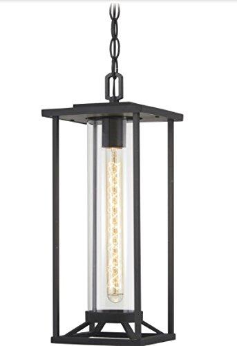 Minka Lavery Outdoor Pendant Lighting 72474-66 Trescott 1-Light 60 Watts Black