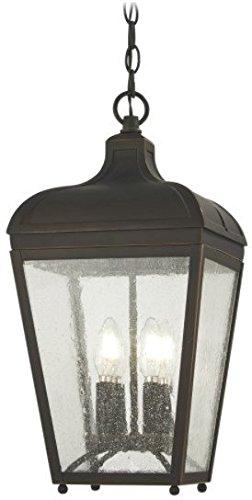 Minka Lavery Outdoor Pendant Lighting 72484-143C Marquee 4-Light 240 Watts Oil Rubbed Bronze