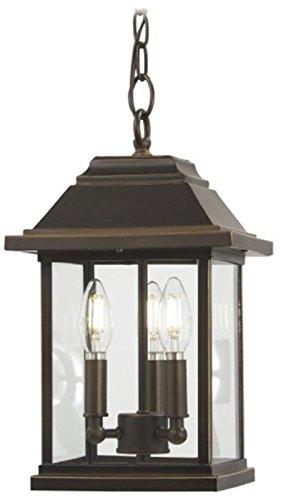 Minka Lavery Outdoor Pendant Lighting 72634-143C Mariners Pointe 3-Light 180 Watts Oil Rubbed Bronze