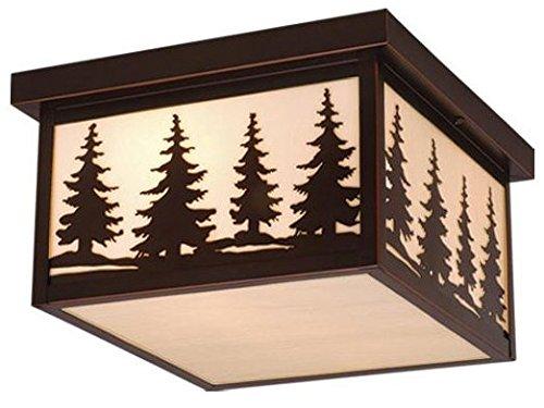 Vaxcel OF33412BBZ Yosemite 12-Inch Outdoor Ceiling Light Burnished Bronze